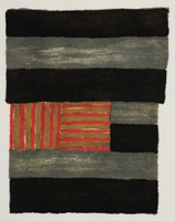 Sean Scully, Narcissus (with all nine (9) of Sean Scully's original wood blocks used to create this limited edition print)- Cleveland Museum De-Accession, 1991