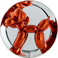 Balloon Dog (Orange)  Signed, Numbered in Original Box with COA and Stand (New)