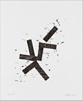 "Joel Shapiro,  ""For Jewish Museum 5748"", Woodcut"