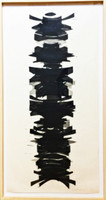 "James Nares, ""The Golden Ladder"", 1988 Woodcut (Framed)"