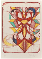 JOHN NEWMAN, Color Double, Color Lithograph (Signed, Dated & Annotated)