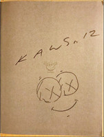 KAWS, Cloud Drawing (Signed) 2012, Unique Drawing in Black Sharpie Held in Hardback Monograph (Hand Signed and Dated)