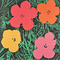 ANDY WARHOL,  Flowers, Original Leo Castelli Gallery Limited Edition Mailer (Feldman & Schellmann II.6 ) 1964, Lithograph in Colors (folded)