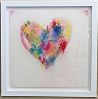 MR. BRAINWASH, A Thousand Wishes - One-Of-A-Kind Original Painting (Unique) 2017, Powder/Spray Acrylic on Hand Torn Archival Art Paper (Signed & Framed)