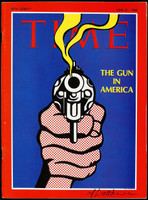 ROY LICHTENSTEIN Time Magazine Cover: The Gun in America (Signed), Magazine Cover (Hand Signed)