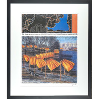 CHRISTO AND JEANNE-CLAUDE, The Gates, Project for Central Park 2003, Color offset lithograph (hand signed) - framed