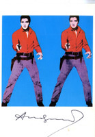 ANDY WARHOL, Elvis I (Hand Signed Card) 1979, Postcard of Elvis I (hand signed by Warhol)