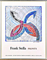 "FRANK STELLA ""Frank Stella Prints"" -- Hand Signed Brown University Lithographic Poster 1981,  Offset Lithograph, hand signed and framed"