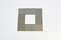 CARL ANDRE Thin Sheet Four Square (COA signed by Carl Andre) 2010