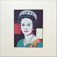 AFTER ANDY WARHOL ANDY WARHOL ANDY WARHOL Queen Elizabeth 1987, Offset Lithograph unframed with label from Art Basel