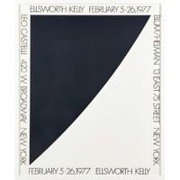 ELLSWORTH KELLY Vintage Leo Castelli Blum/Helman Gallery Poster 1977, Offset lithograph poster (framed)