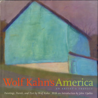 WOLF KAHN Wolf Kahn's America (Signed & Dedicated Book) 2003, Hand signed and dedicated hardback monograph