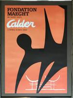 ALEXANDER CALDER Fondation Maeght Lithographic Poster 1969, Offset Lithograph Poster (Framed)