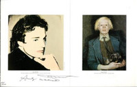 Andy Warhol & Jamie Wyeth Portraits Hand Signed twice by Andy Warhol 37/100 1976