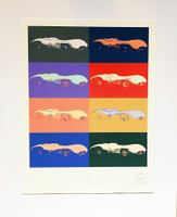 AFTER ANDY WARHOL ANDY WARHOL Cars (Mercedes Benz), Collaboration between Daimler/Chrysler & The Andy Warhol Foundation 2007, Limited Edition Color silkscreen on light board (Numbered and Stamped)