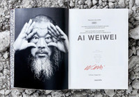 AI WEIWEI - Hand Signed and Numbered Monograph Wrapped in Scarf 2014, Limited Edition Signed & Numbered Hardback Book Wrapped in Silk Scarf
