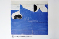 RICHARD DIEBENKORN Los Angeles 1984 Olympic Games (Pencil Signed with Signed, Embossed, Olympic Committee COA) 1982, Offset Lithograph on Parsons Diploma Parchment. Hand signed. Mint condition. Unframed.