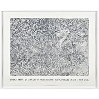 JASPER JOHNS Jasper Johns at Leo Castelli (Hand signed and dated at the opening) 1976,  Rare Offset Lithograph Poster.