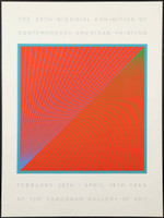 RICHARD ANUSZKIEWICZ The 29th Biennial Exhibition of Contemporary American Painting 1965, Offset Lithograph Poster