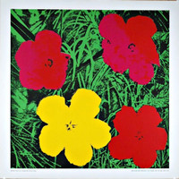 ANDY WARHOL AFTER ANDY WARHOL Flowers 1970, Silkscreen poster on linen canvas backing. Unframed.