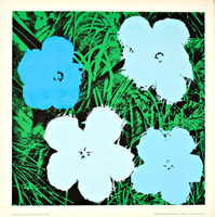 ANDY WARHOL AFTER ANDY WARHOL Flowers (Blue) 1970, Silkscreen poster on linen canvas backing. Unframed.