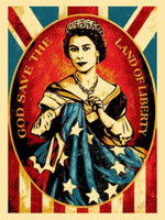 SHEPARD FAIREY God Save the Queen 2012, Screen print on cream speckle tone paper. Signed. Dated. Numbered. Unframed.