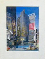RICHARD HAAS Broadway and 41st Street 2003, Color pencil on paper. Signed. Dated. Unframed.