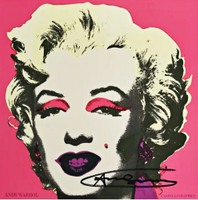 ANDY WARHOL Marilyn Monroe, Castelli Graphics Invitation, Leo Castelli Gallery Invite (Hand Signed) 1981, Color offset lithograph on firm glossy announcement Card. Hand signed in black marker. Unframed.