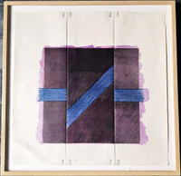 RICHARD SMITH Two of A Kind 1978, Lithograph printed in colors on folded paper with paperclips. Numbered. Handsigned. Framed.