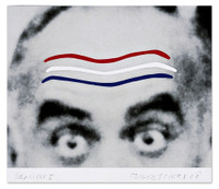 JOHN BALDESSARI Raised Eyebrows/Furrowed Foreheads 2008, Six (6) color Screenprint. Hand signed. Unframed.