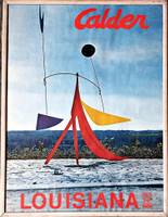 ALEXANDER CALDER Louisiana Museum of Modern Art (Denmark) Exhibition Poster 1969, Offset Lithograph Poster. Framed.