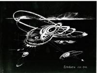 LEE BONTECOU Untitled, from the Collection of Ileana Sonnabend and the Estate of Nina Castelli 1973, Color Lithograph on Card Stock. Signed. Numbered. Unframed