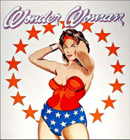 MEL RAMOS Wonder Woman 1981, Color lithograph, Special Proof, pencil signed and dedicated. Blind stamped. Unframed