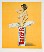 MEL RAMOS Candy 1981, Color Lithograph, Rare proof, signed and inscribed in graphite pencil. Blindstamped. Unframed.