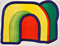 HOWARD HODGKIN Arch Composition with Red (Henck, 10) 1970, Lithograph in colors Arches paper. Signed and numbered. Unframed.