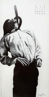 ROBERT LONGO Men in the Cities (Eric) 1991, Limited edition offset lithograph poster. Hand signed. Unframed.