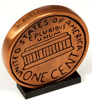 TOM OTTERNESS Big Penny 1990, Cast Bronze. Signed. Numbered with Foundry Mark.