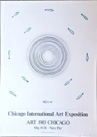 ED RUSCHA Chicago International Art Exposition (Signed) 1983, Lithograph. Pencil Signed and dated. Unframed.