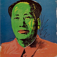 ANDY WARHOL Mao Tse-Tung Castelli Gallery Announcement Card (Leo Castelli Mao) 1972, Silkscreen on Invitation Card. Unframed.
