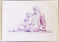 JEFF KOONS Michael Jackson and Bubbles 1995, Offset Lithograph on Smooth Wove Paper. Signed. Numbered. Dated. Framed.