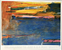 HELEN FRANKENTHALER Celebration '76 (Hand signed twice) 1976, Offset Lithograph Poster. Inscribed/dedicated and signed twice by hand. Unframed.