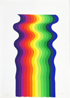 JULIO LE PARC Scheda Del Bene Culturale n.1 1975, Silkscreen on Thin Card Paper. Numbered. Signed.