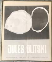 JULES OLITSKI Rare vintage Poindexter Gallery poster 1961, Offset Lithograph Poster. Framed.