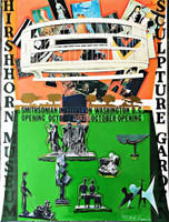 LARRY RIVERS Larry Rivers Hirshhorn Museum and Sculpture Gallery (Hand Signed) 1974, Silkscreen in colors on wove paper. Signed. Numbered. Dated.