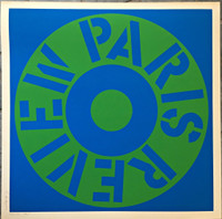 ROBERT INDIANA Paris Review (Sheehan, 34) 1965, Silkscreen in colors on off-white heavy wove paper. Pencil Dated Signed & Numbered from the limited edition of 150. Unframed.