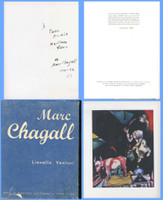 MARC CHAGALL Lt. Ed. Monograph , uniquely HAND SIGNED & DEDICATED BY CHAGALL TO LITERARY CRITIC & FRENCH SCHOLAR PIERRE BRODIN, 1945-1947,  Vintage Limited Edition Numbered Monograph