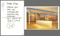 SOL LEWITT Note to a collector 1995, Signed & inscribed postcard from the Fruitmarket Gallery