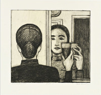 WILL BARNET Between Life and Life 1998, Lithograph on Somerset Paper with Deckled Edges. Dated. Numbered. Hand Signed.