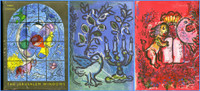 MARC CHAGALL The Jerusalem Windows  1962, Limited edition rare vintage hardback monograph with two (2) original lithographs bound in, accompanied by the rare original offering letter signed by the publisher.
