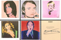 ANDY WARHOL Portraits of the 1970s (Limited Edition Book of 120 Bound Offset Lithographs) HAND SIGNED AND NUMBERED BY ANDY WARHOL FROM THE LIMITED EDITION OF ONLY 200 (Whitney Museum)  held in original slipcase (boxed set).
